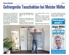 Gefriergeräte Tauschaktion bei Meister Möller