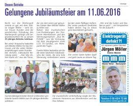Jubiläumsfeier am 11.06.2016