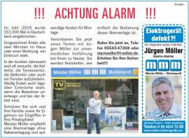 !!! Achtung Alarm !!! Erhöhen Sie Ihre Sicherheit