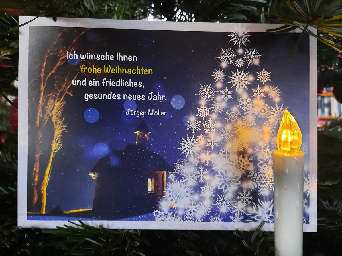 Frohe Weihnachten wünscht Jürgen Möller