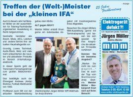 """Treffen der (Welt-)Meister bei der """"kleinen IFA"""""""